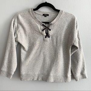 Rails Oliver lace-up sweatshirt